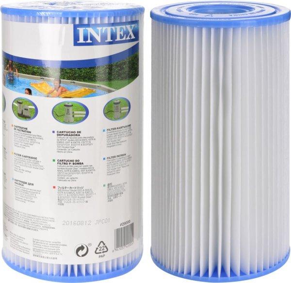 INTEX® Filterkartuschen-6er-Pack | 6 Kartuschen Typ H für Filterpumpe 1.250 L