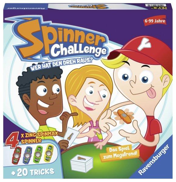 Ravensburger Spinner Challenge | Inkl. 4 Zing Spinmax Spinner, ab 6 Jahren, 2-4 Spieler