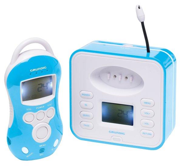 GRUNDIG Digitales Funk-Babyphone | Digitale Anzeige von Temperatur und Ladestatus uvm.