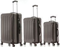 Trolleyset, Waage, TSA, Anthrazit | 3er Kofferset mit...