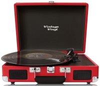 Vintage Vinyl, tragbar, rot | Retrodesign Plattenspieler...