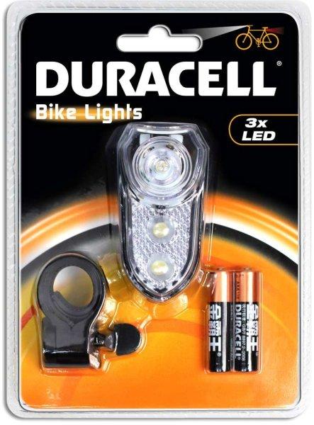 DURACELL® LED-Fahrradleuchten-Set | Front- und Heckleuchte inkl. Befestigungsmaterial