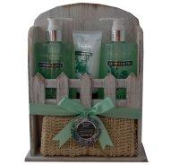 Pflege Geschenkset im Holzregal | 4 Produkte mit...