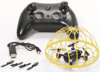 RayLine® RC Quadrocopter X3A gelb   Agile, kompakte Drohne mit 6-Achsen Gyroskop & Tumbler Mode