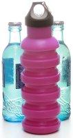 Silikon-Trinkflasche (550ml), pink | Faltbar, BPA frei -...