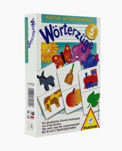 Piatnik Lernspiel Wörterzüge | Ein Dominospiel zur Sprachförderung für Kinder ab 5 Jahren
