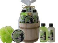 Aloe-Pflege-Geschenkset Holzbottich | 5 Pflegeprodukte...