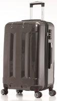 Glüückskind® Trolleyset Anthrazit | 3er Kofferset, 360°-Doppel-Leichtlaufrollen, TSA-Schloss