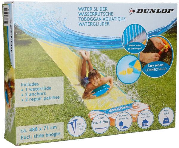 DUNLOP™ Wasserrutsche 4,88 Meter | Einfacher Schlauchanschluss, Wasserspaß auch ohne Gefälle