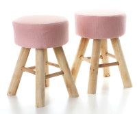 2x ARTI CASA Design-Hocker zartrosa | Handgefertigt,...