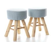 2x ARTI CASA Design-Hocker zartblau | Handgefertigt,...