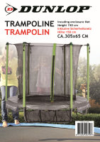 DUNLOP™ Trampolin Ø 305cm standfest | Mit...
