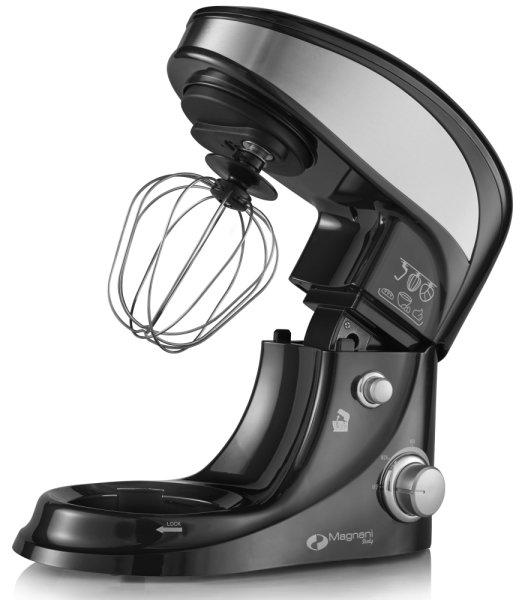 Magnani Italy Küchenmaschine black | Multifunktional, reichhaltiges Zubehör, Edelstahl, 500 Watt