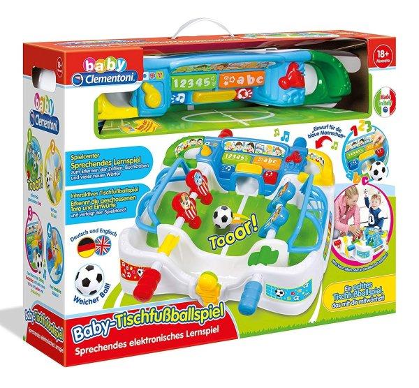 Clementoni Baby-Tischfußballspiel | 2-in-1 elektronisches Lernspiel für Kinder ab 18 Monaten