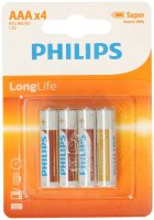 PHILIPS LongLife 4x AAA | Super heavy duty, R03 Micro, 1,5V