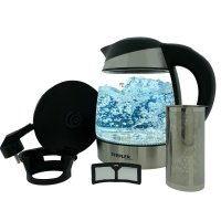 STEPLER LED-Glas-Wasserkocher 1,8 Liter | Teekocher |...