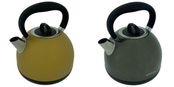 STEPLER Wasserkocher Retro-Design   Tee- und Flötenkessel   Überhitzungsschutz   Rostfreier Edelstahl
