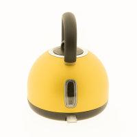 STEPLER Wasserkocher Retro-Design | Tee- und Flötenkessel | Überhitzungsschutz | Rostfreier Edelstahl (BRASS)