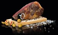 RAMOS Premium Serrano-Schinken | 1kg im Geschenkkarton | Schinkenbrett und -messer gratis | Oro reserva