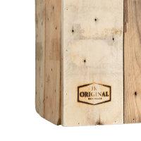 JK ORIGINAL® asymmetrischer Designer-Papierkorb | 100% recyceltes Palettenholz | Handmade in Germany