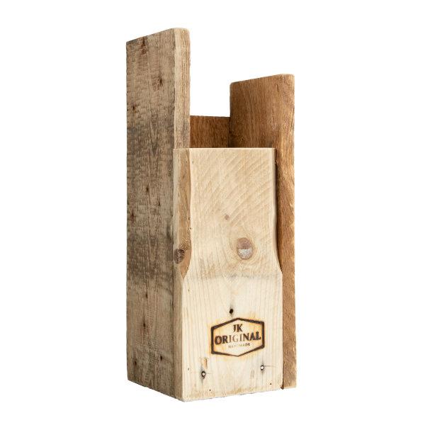 JK ORIGINAL® asymmetrischer Designer Schirmständer   100% recyceltes Palettenholz   Handmade in Germany