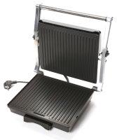 DUNLOP™ Kontaktgrill Edelstahl | Ober- und Unterseite zeitgleich fettarm grillen | 2000 Watt