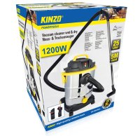 Kinzo Nass- / Trockensauger 1.200 W | Industriestaubsauger 25L | inkl. Gebläsefunktion